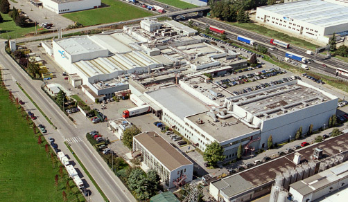 CordenPharma Caponago, IT, facility aerial view
