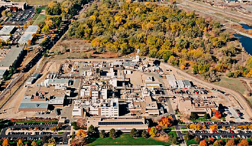 CordenPharma Colorado facility, Boulder, CO, US aerial view