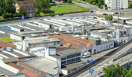 CordenPharma Switzerland (Leistal, CH) facility aerial view