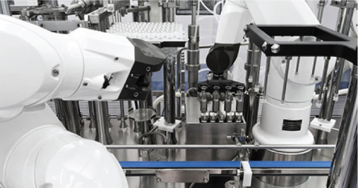 CordenPharma Caponago (IT) aseptic fill & finish commercial plant pre-filled syringe robotized line 1 weighing station