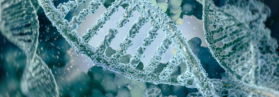 CordenPharma shares microscopic images of DNA molecules in white & blue-green
