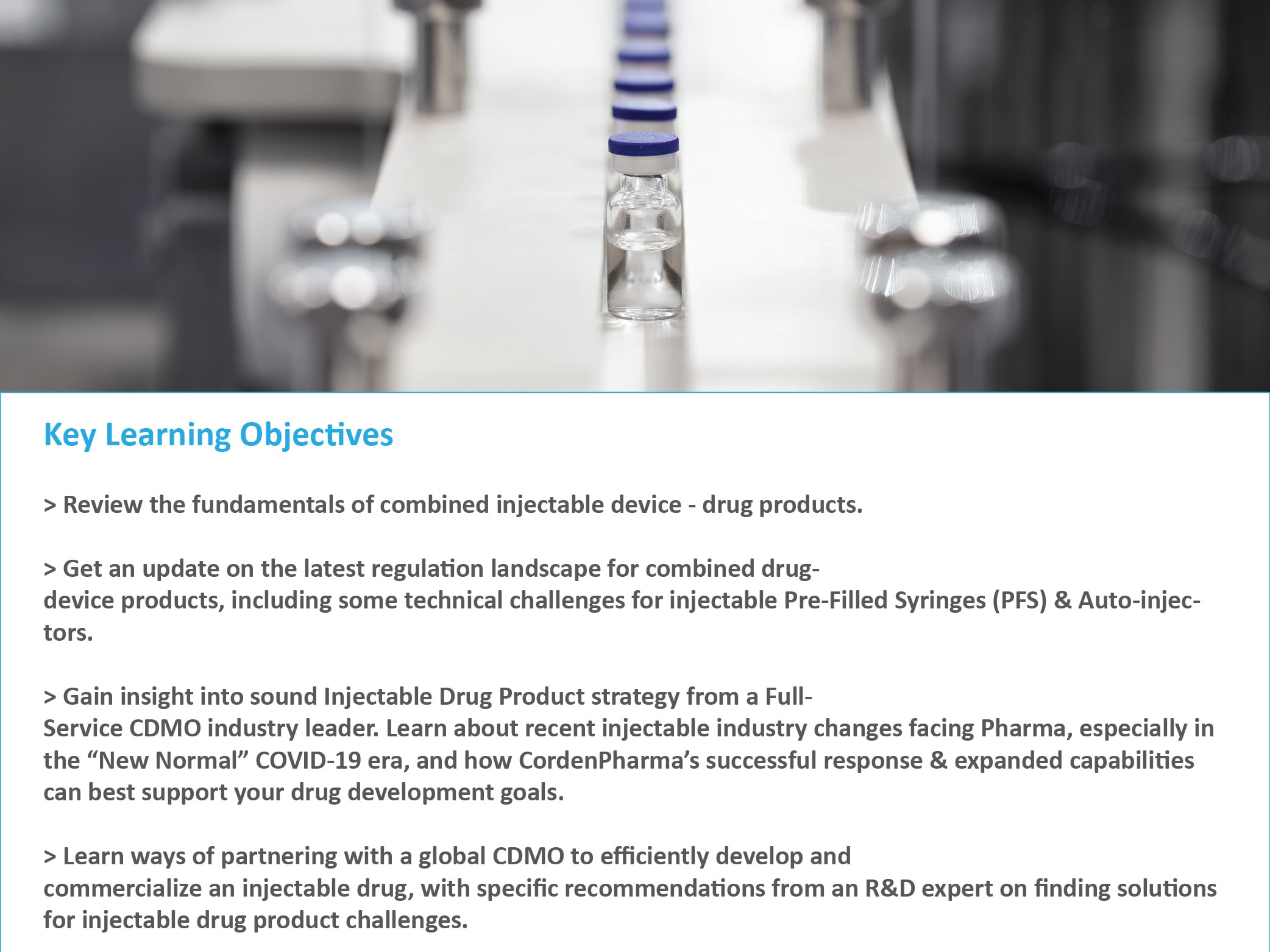CordenPharma Sterile Injectable Drug Product Manufacturing Video